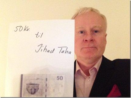 Der er 50 kr. på vej fra Torben Mark Pedersen til Jihad Taha