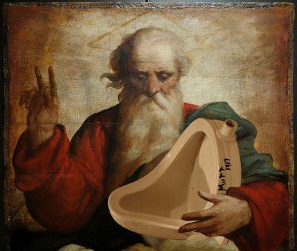 Duchamps pissoir i Guds hænder, Thomas Knarvik.