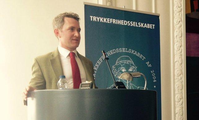 Douglas Murray på talerstolen. FOTO: Torben Mark Pedersen