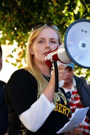 Eyd Aradottir Hammer fra Students for Liberty var medarrrangør og en af talerne.