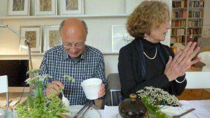Filosof og forfatter Kai Sørlander sammen med teologen Kirsten Sarauw