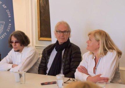 Dan Park sammen med Lars Vilks og klummens forfatter. FOTO: Thomas A. Fog