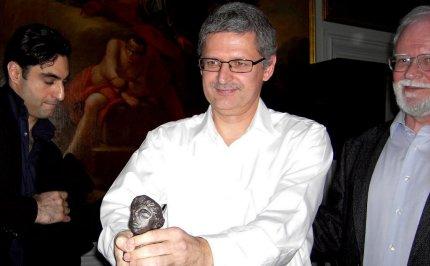 Flemming Rose, da modtog Trykkefrihedsselskabets Sapphopris i 2007. FOTO: Snaphanen