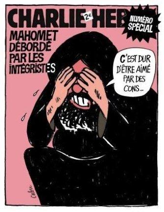 Charlie Hebdos solidaritetstegning til JP under Muhammedkrisen
