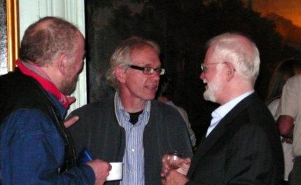 Kurt Westergaard, Lars Vilks og Lars Hedegaard i 2007. Foto: Steen R.
