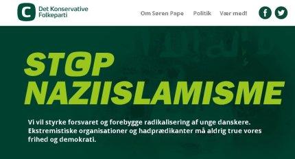 Screenshot fra sorenpape.dk