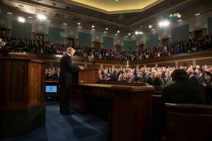 President Donald Trump delivers remarks during the Address to Congress. (Official White House Photo)